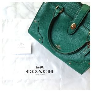 Coach Bags - Coach Mercer Small Satchel 24 in Light Forest